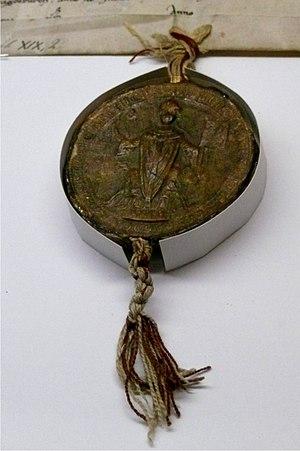 Albert I of Käfernburg - Seal of Archbishop Albert