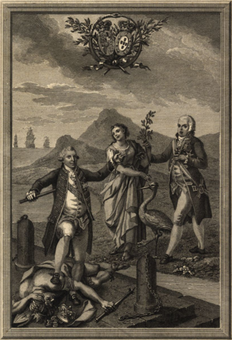 Anglo-Portuguese Alliance - Allegory of George III of the United Kingdom and John VI of Portugal