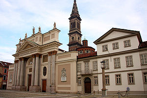 Alessandria - Alessandria Cathedral on the Piazza del Duomo