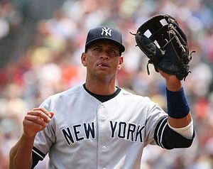 Doping in baseball - Alex Rodriguez playing a baseball game against the Baltimore Orioles in 2007. He has admitted to using performance-enhancing drugs from 2001-2003. He was suspended for 211 games by the MLB after they found evidence that he was using HGH which is banned in professional baseball.