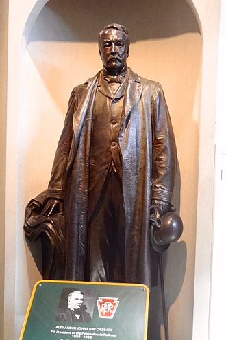 Alexander Cassatt - His statue at the Railroad Museum of Pennsylvania