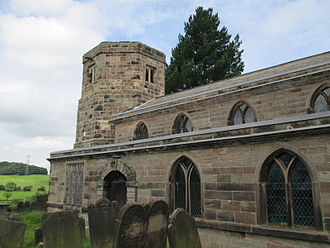 Dilhorne - All Saints Church, viewed from the south-east