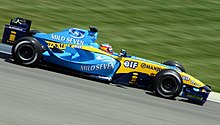 Photo de la Renault R24 de Fernando Alonso