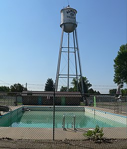 Alpena, SD, swimming pool and water tower from N 2.jpg