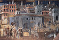 Ambrogio Lorenzetti - Effects of Good Government on the City Life (detail) - WGA13491 tone adj.jpg