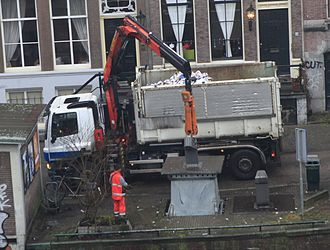 Recycling in the Netherlands - Paper recycling pickup in Amsterdam