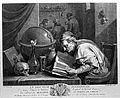 An alchemist poring over a book, on his table stand an hour- Wellcome L0004326.jpg