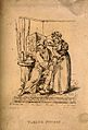 An ill man reluctantly taking his medicine. Reproduction of Wellcome V0011153.jpg