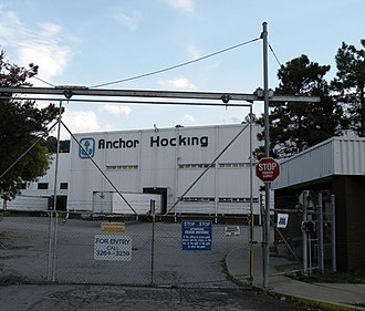 Monaca, Pennsylvania - Image: Anchor Hocking Monaca PA