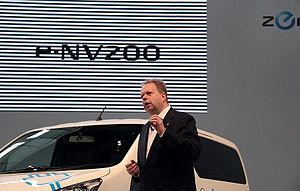 Andy Palmer - Andy Palmer at e-NV200 launch in Yokohama.
