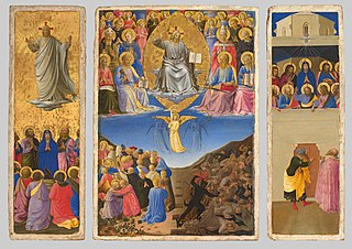 Triptych of the Last Judgment, Ascension, and Pentecost