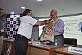 Anil Srikrishna Manekar Felicitating Saroj Ghose - CRTL Silver Jubilee Celebration - NCSM - Kolkata 2018-03-13 8408.JPG