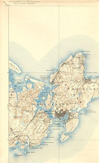 Annisquam, Massachusetts - Annisquam's location on Cape Ann