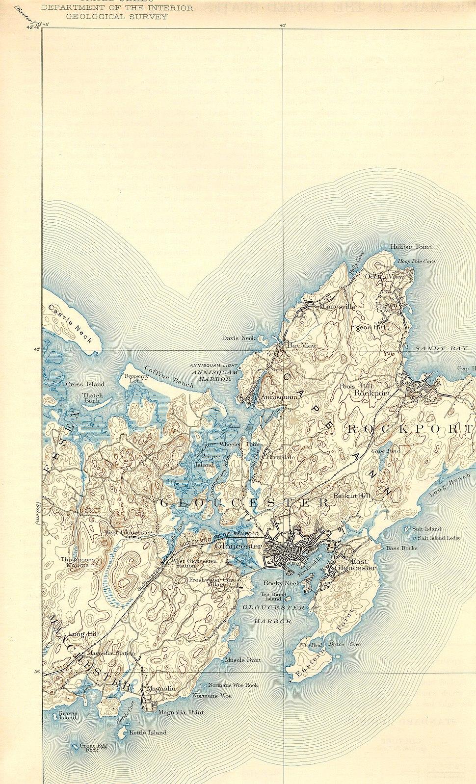 Annisquam River (Massachusetts) map