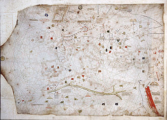 Abraham Cresques - Image: Anonymous Catalan chart (Naples)