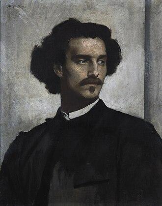Anselm Feuerbach - Self-portrait (1873)