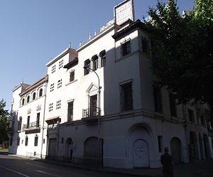 Fatherland and Liberty - Building that served as Patria y Libertad headquarters in Santiago.