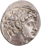 Antiochus XI on the obverse of a tetradrachm