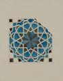 Antiquities of Samarkand. Tomb of the Saint Kusam-ibn-Abbas (Shah-i Zindah) and Adjacent Mausoleums. Mausoleum of Sha Arap. Section of Wall Detail WDL3919.png