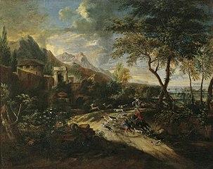 Hirschhatz in bergigem Gelände