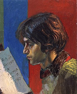Antonio Sicurezza Young man reading
