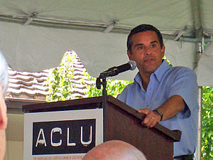 East Los Angeles College - Antonio Villaraigosa, at an event.