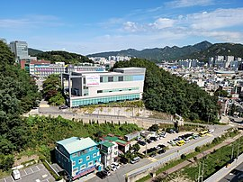Anyang Arts High School, Photographed from Plaza Apartment rooftop.jpg
