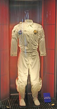 Apollo XIII flight suit on display (cropped).jpg