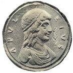 Апулей (?)Конторниат (памятный медальон) IV—V веков.