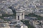 Arc de Triomphe from the Eiffel Tower, Paris April 2011.jpg