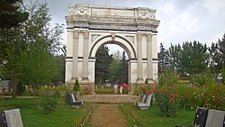 The Afghan Arc de Triomphe in the Paghman Gardens