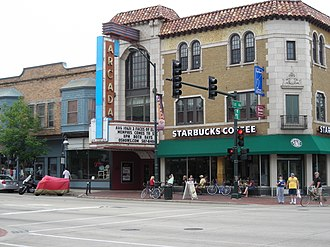 National Register of Historic Places listings in Kane County, Illinois - Image: Arcada Theater Building (St. Charles, IL) 02