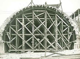 Falsework - Arch Ring and Falsework, 1932