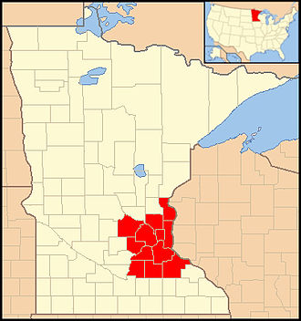 Roman Catholic Archdiocese of Saint Paul and Minneapolis - Image: Archdiocese of Saint Paul & Minneapolis map 1