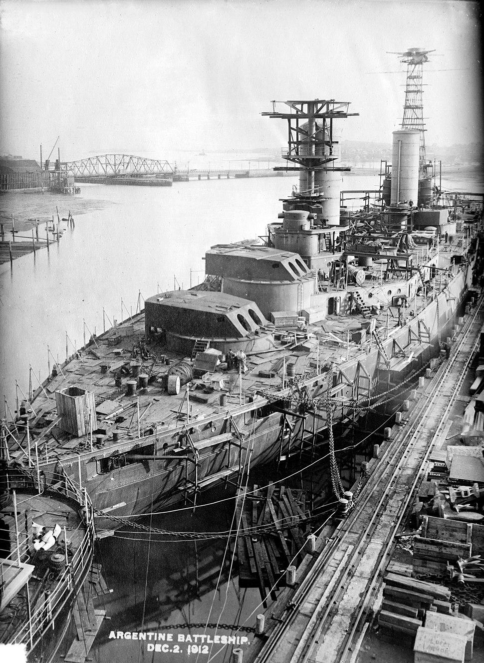 Argentine Rivadavia Class Battleship 1912