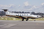 Argile Aviation (VH-TCP) Pilatus PC-12 NG taxiing at Wagga Wagga Airport.jpg