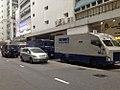 Armored security trucks on Man Lok Street, Hung Hom, Kowloon, Hong Kong.jpg