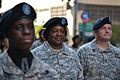 Army Col. Joyce Junior, center, commander of 77th Sustainment Brigade, marches with her unit in the Veterans Day Parade at New York City, Nov. 11, 2012 121111-A-ZZ999-683.jpg