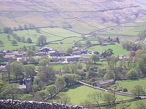 Arncliffe, North Yorkshire - Arncliffe and Littondale from the north.