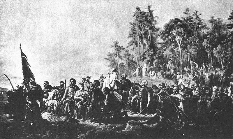 Artur Grottger Modlitwa Konfederatow Barskich
