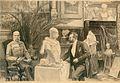 Artur Lajos Halmi Bildhauer Georg Zelle modelliert die Büste des Kaisers.jpg