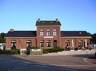 As, Belgium - The restored As station building