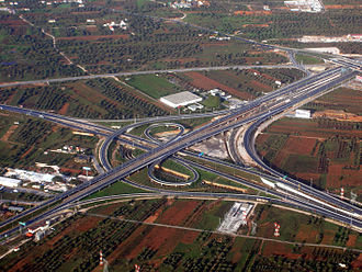 Motorway 6 (Greece) - Interchange at the Attiki Odos Airport Entrance