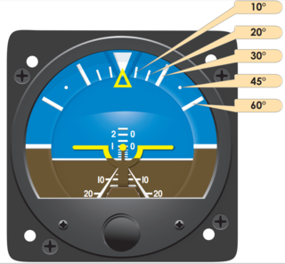 Attitude indicator instrument for determining the pitch and roll of an aircraft