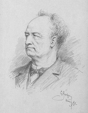 August Kindermann - August Kinderman in an 1891 portrait by Eduard von Grützner