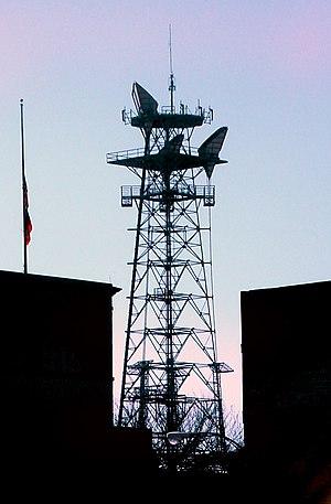 Media in Augusta, Georgia - Radio tower in downtown Augusta