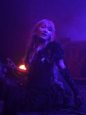 Aural Vampire - Lead singer, EXO-CHIKA, performing at Mang'Azur in 2013