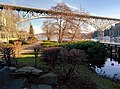 Aurora Bridge in Fremont, Seattle - from path along Fremont Cut.jpg