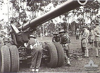 Royal visits to Australia - The Duke of Gloucester watches Australian troops training. From 1945 to 1947, he served as the Governor General of Australia.
