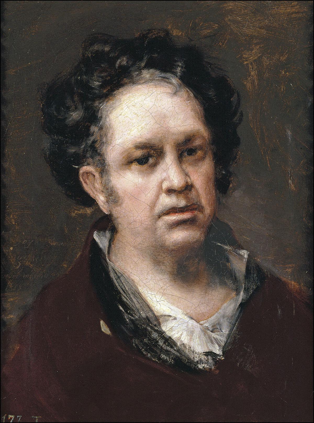Autoportrait (Goya, 1815) — Wikipédia
